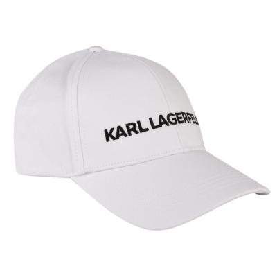 Sepci Karl Lagerfeld Logo alb a100