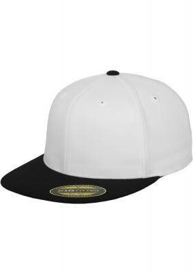 Sepci rap Premium 210 Fitted doua culori alb-negru Flexfit
