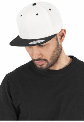 Sepci rap Snapback Classic 2-Tone natural-negru Flexfit