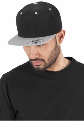 Sepci rap Snapback Classic 2-Tone negru-argintiu Flexfit