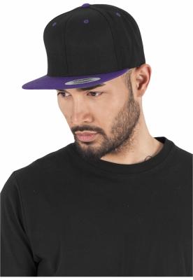 Sepci rap Snapback Classic 2-Tone negru-mov Flexfit