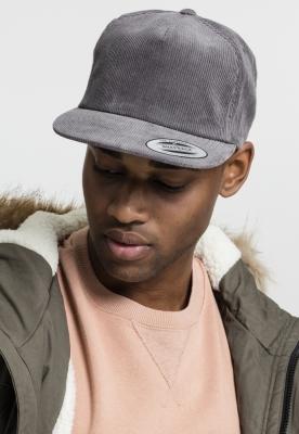Sepci rap Snapback Premium Corduroy gri Flexfit
