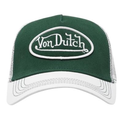 Sepci Von Dutch Logo verde alb