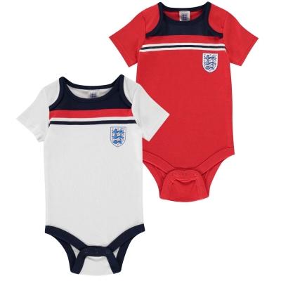 Set 2 Brecrest Anglia 1982 Body Suits pentru Bebelusi alb
