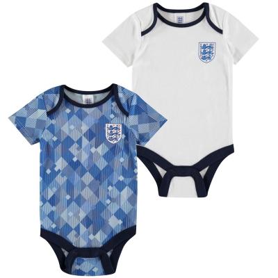 Set 2 Brecrest Anglia 1990 Body Suits pentru Bebelusi albastru