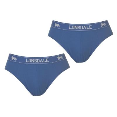 Set 2 perechi Chiloti barbati Lonsdale albastru