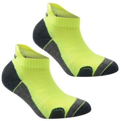 Set 2 Sosete Karrimor alergare pentru copii fosforescent galben