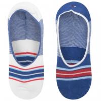 Set 2 Sosete Tommy Bodywear cu dungi Sports albastru multicolor