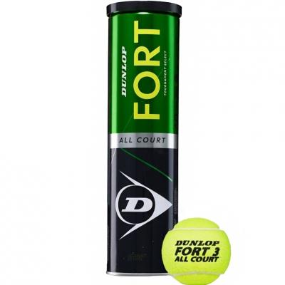 Set 4 Mingi de tenis Dunlop Fort toate suprafetele concurs Select barbati