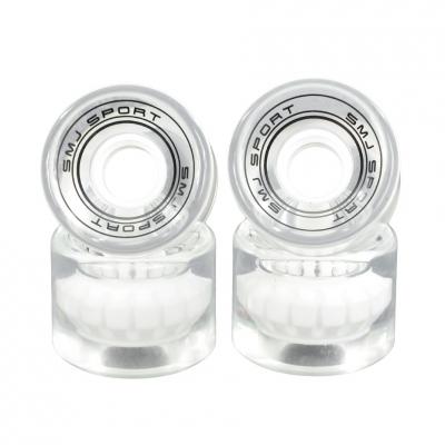 Set 4 roti plastic SMJ 60x45mm Semi-transparent alb