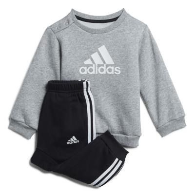 Set adidas Crew pentru Bebelusi gri negru alb