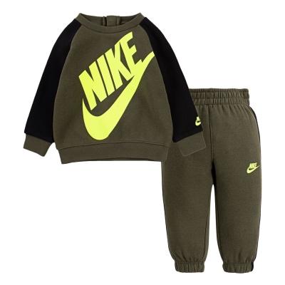 Set bebelusi Nike Futura Crew pentru baieti cargo kaki