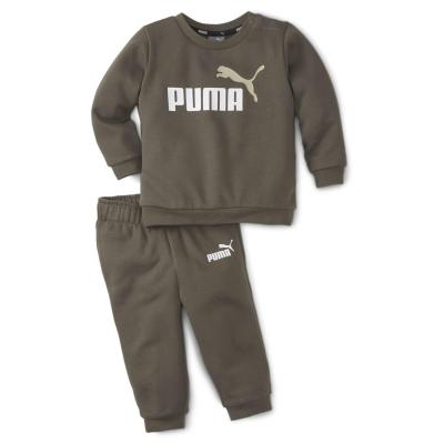 Set bebelusi Puma No1 Crew pentru baieti mov multicolor