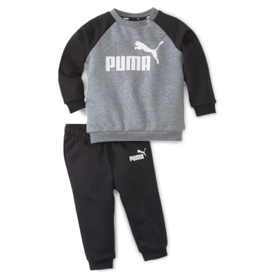 Set bebelusi Puma No1 Raglan cu guler rotund pentru baieti negru