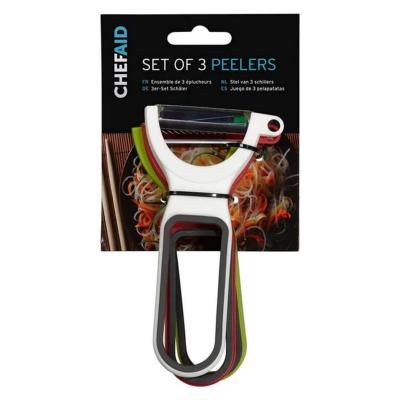 Set Chef Aid of 3 Peelers multicolor