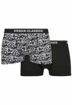 Set de 2 Boxeri Organic detail-aop+black Urban Classics multicolor negru