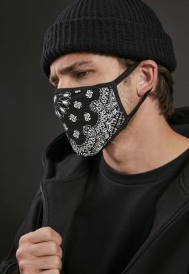 Set de 2 Masca fashion protectie Bandana negru-alb Mister Tee