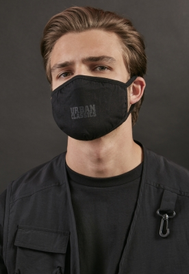 Set de 2 Masca fashion protectie Urban Classics bumbac negru