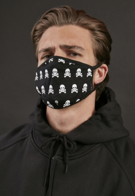 Set de 2 Masca fashion protectie Skull negru-alb Mister Tee