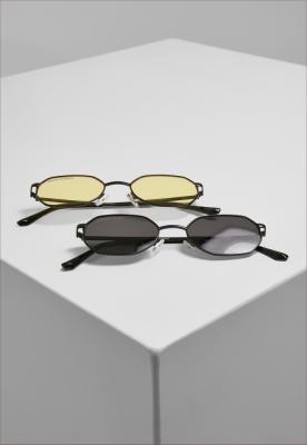 Set de 2 Ochelari de soare San Sebastian black+black-galben Urban Classics negru