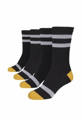 Set de 2 Sosete Multicolor negru-alb Urban Classics galben