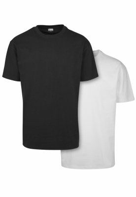 Set de 2 Tricou larg Heavy black+white Urban Classics negru alb
