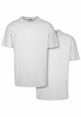 Set de 2 Tricou larg Heavy white+white Urban Classics alb
