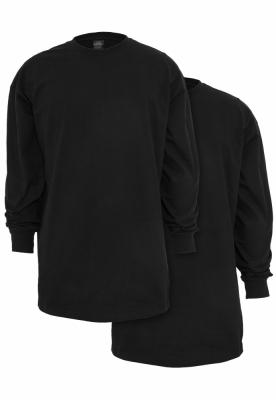 Set de 2 Tricou lung LS black+black Urban Classics negru