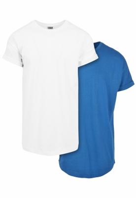 Set de 2 Tricou Pre-. Lung white+sporty-albastru Urban Classics alb sporty