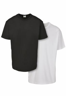 Set de 2 Tricouri simple Organic black+white Urban Classics negru alb