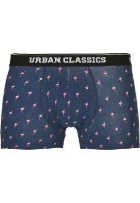 Set de 3 Boxeri flamingo-aop+wht+blk Urban Classics aop alb negru