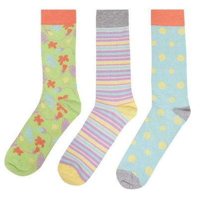 Set de 3 Sosete Happy Crew pastel