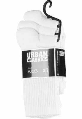 Set de 3 Sosete Sport alb Urban Classics