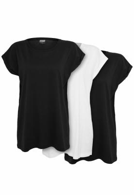 Set de 3 Tricouri maneca larga pentru Femei negru-alb Urban Classics