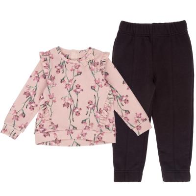 Set Firetrap 2 Piece pentru fete pentru Bebelusi roz floral
