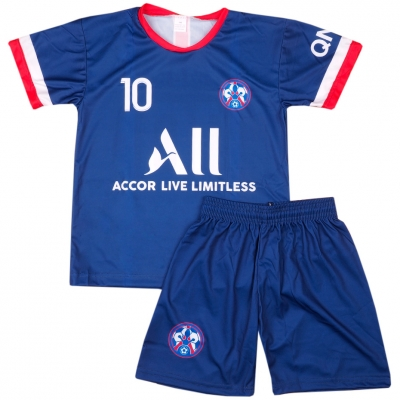 Set fotbal For Neymar PSG 21 Replica 22 bleumarin pentru Copii