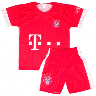 Set fotbal For Replica Lewandowski Bayern 2122 rosu pentru Copii