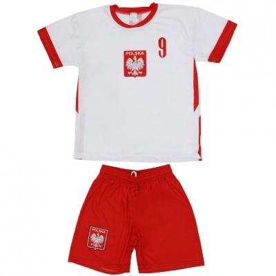 Set fotbal For Replica Polonia 2020 Lewandowski alb-rosu pentru Copii