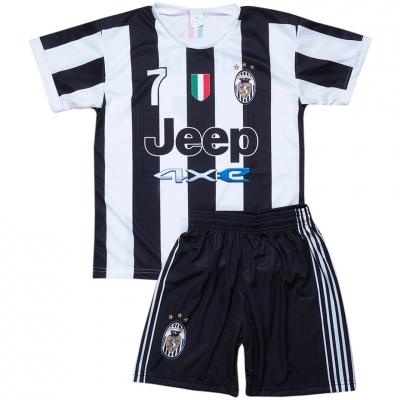 Set fotbal Ronaldo Juventus 2122 negru And alb