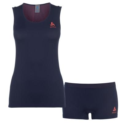 Set haine de corp Odlo Seamless pentru Femei bleumarin