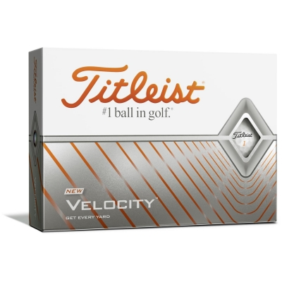 Set mingi golf Titleist Velocity 12 alb