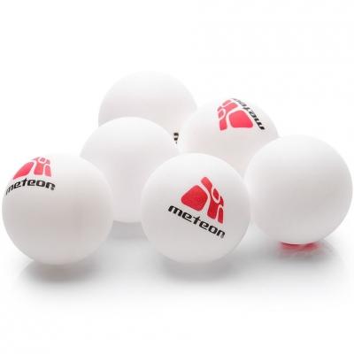 Set Mingi ping pong Of 6 Meteor alb 15028