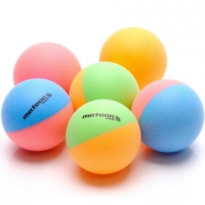 Set Mingi ping pong Of 6 Meteor Rainbow Colored 15027