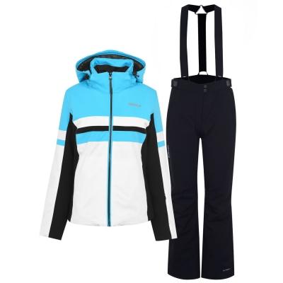 Echipament schi Nevica Meribel pentru Femei negru alb albastru
