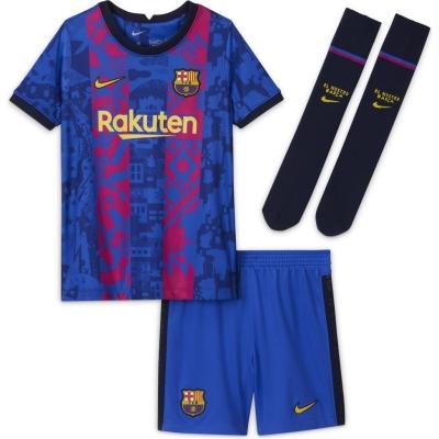 Set Nike Barcelona Third 2021 2022 albastru galben