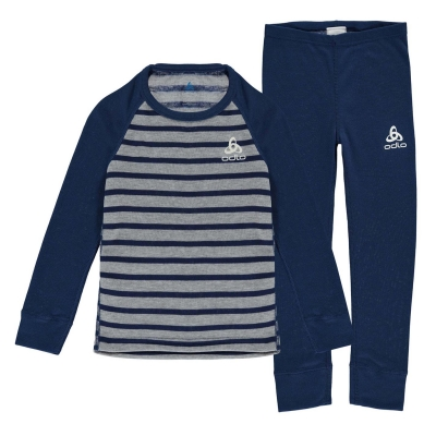 Set Odlo Warm Juniors albastru