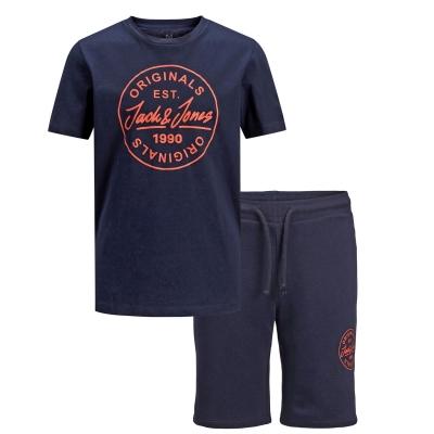 Set Pantaloni scurti Tricou Jack and Jones Shark and bleumarin