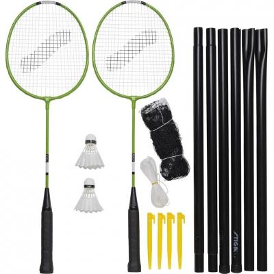Set pentru badminton Stiga Garden GS 2 Rackets Ailerons Net cu Posts barbati