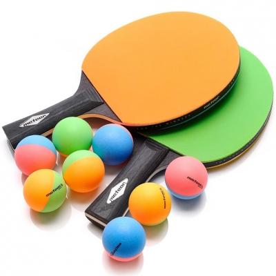 Set Ping Pong Meteor Rainbow 2 Rackets 8 mingi 15024