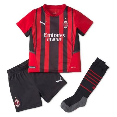 Set Puma AC Milan Acasa 2021 2022 rosu negru